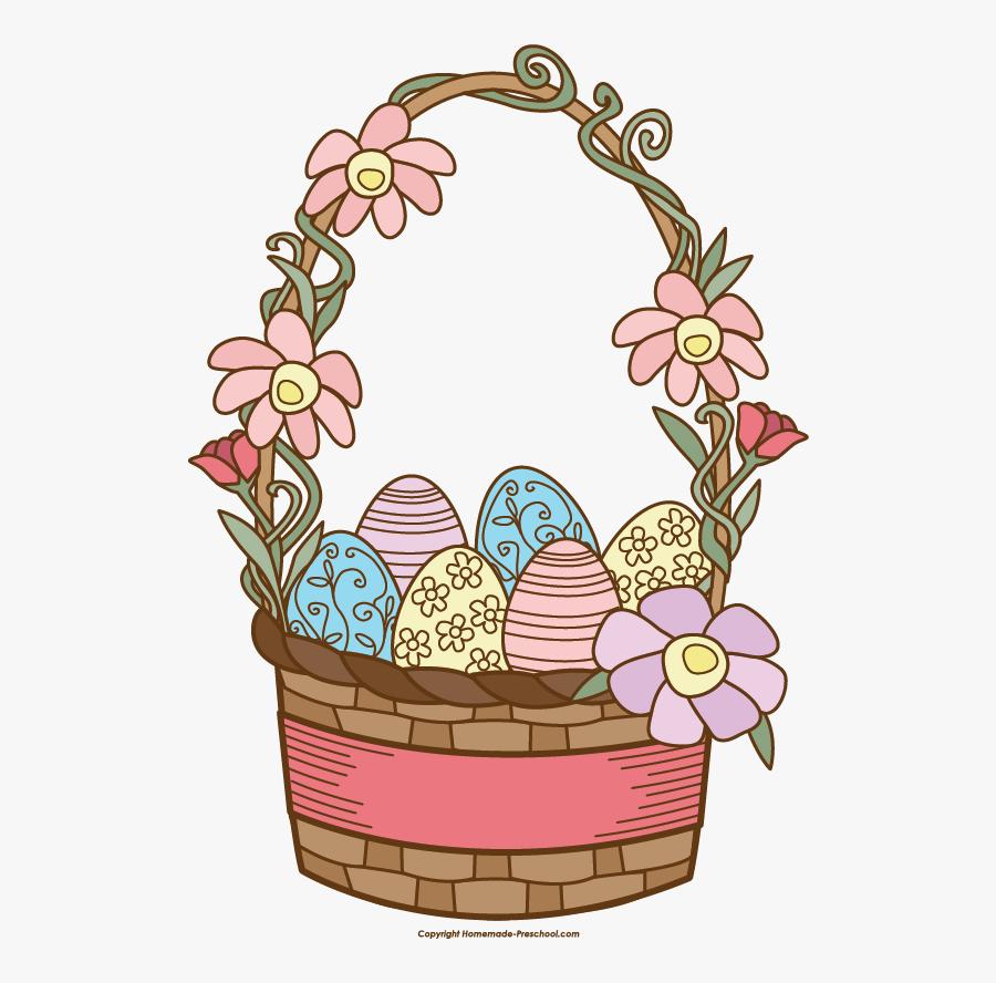 Easter Clipart Basket - Clip Art Easter Basket, Transparent Clipart
