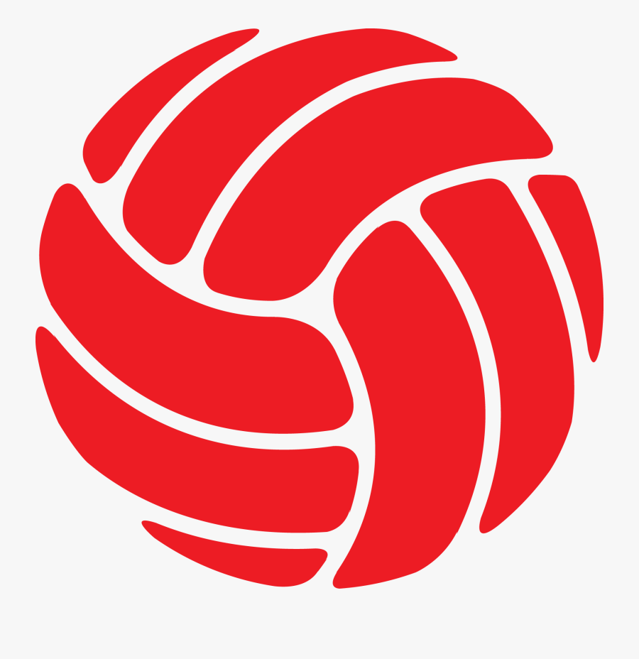 Volleyball-02 Red Rgb - Red Volleyball Clipart, Transparent Clipart