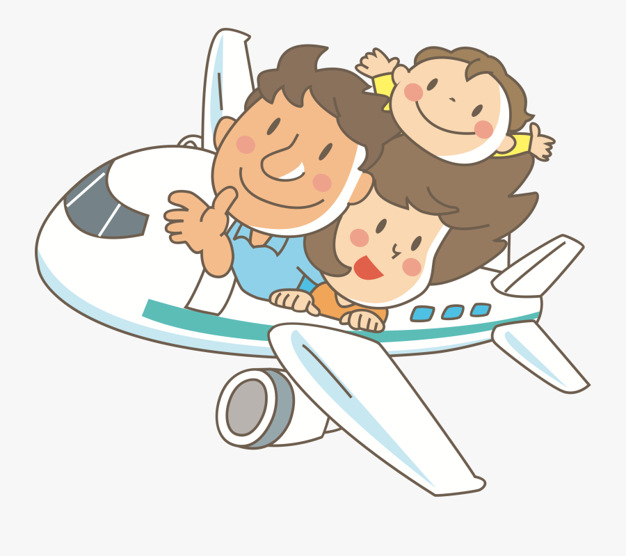Big Family Clipart Png - Family In Airplane Clipart, Transparent Clipart