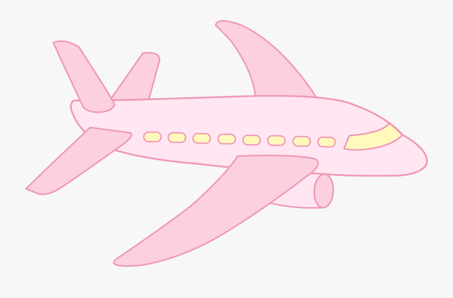 Cute Pink Airplane Cute Plane Cartoon Png Free Transparent