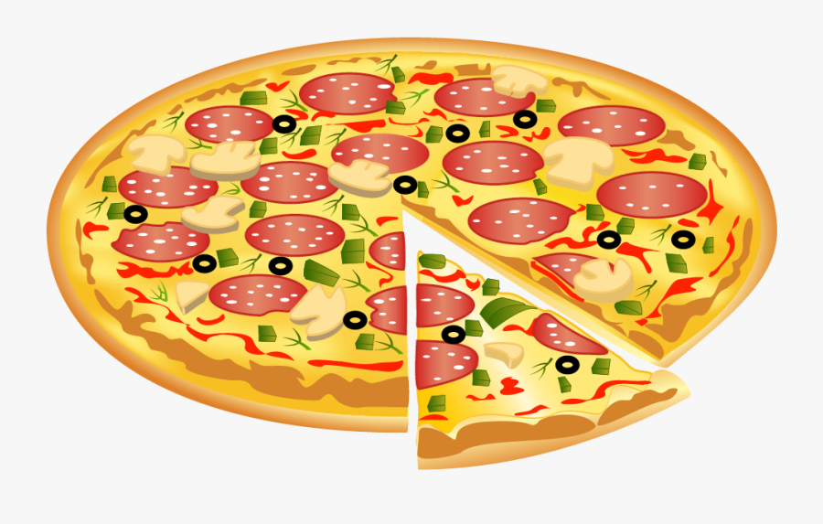 Pizza Clipart Halloween Pencil And In Color Transparent - Clip Art Transparent Background Pizza Slice, Transparent Clipart