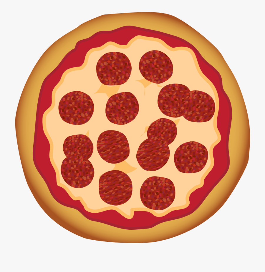 Pepperoni Pizza - Pizza With Transparent Background Cartoon, Transparent Clipart