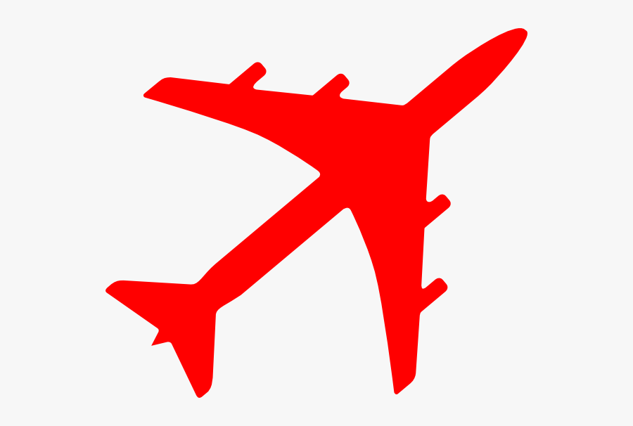 Plane Clip Art At Clker - Airplane Clipart Red, Transparent Clipart
