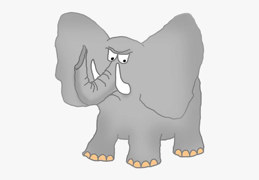 Angry Elephant Clipart - Elephants Climb Trees Clipart, Transparent Clipart