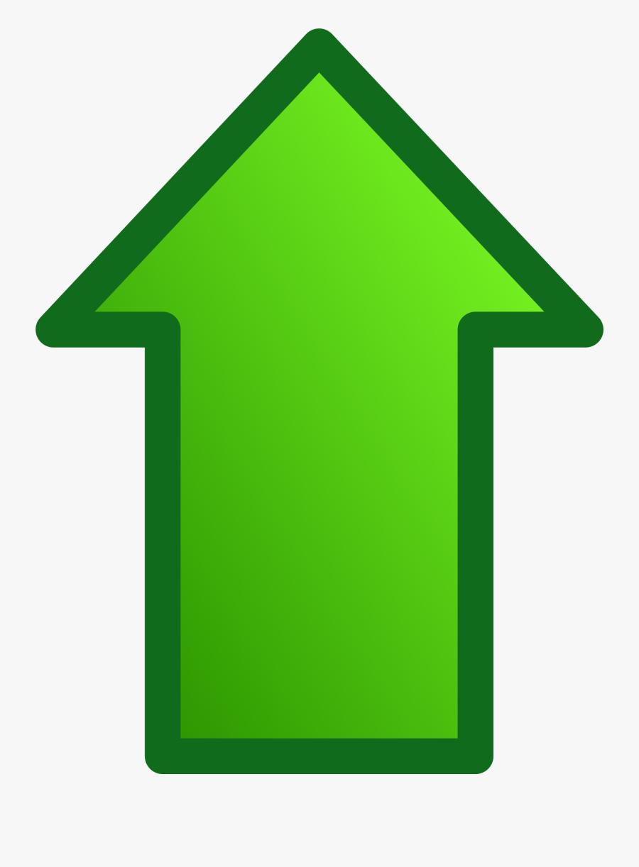 Arrow Clipart Green - Green Up Arrow Png, Transparent Clipart