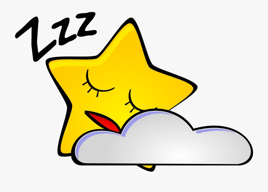 Mood Start Night Sky Clipart - Clip Art Sleep, Transparent Clipart