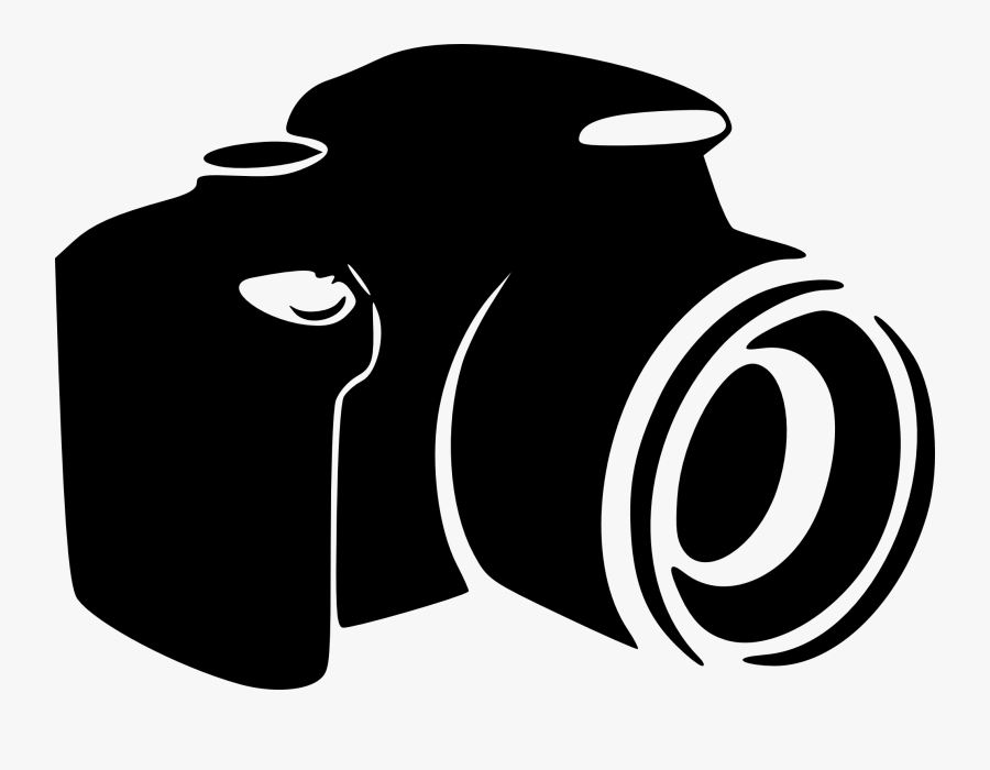 Digital Slr Camera Clipart - Photography Black And White Logo, Transparent Clipart