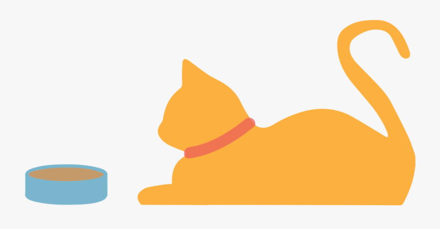 Clip Art Feed Cat Clipart - Cat Lying Down Silhouette, Transparent Clipart