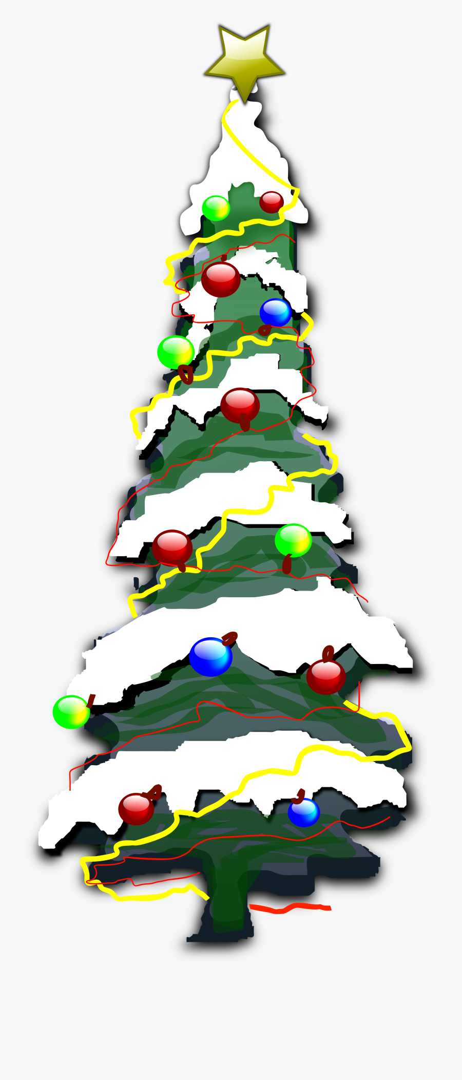 Card Christmas 2 Xmas Scalable Vector Graphics Svg - Christmas Tree With Snow Clipart, Transparent Clipart