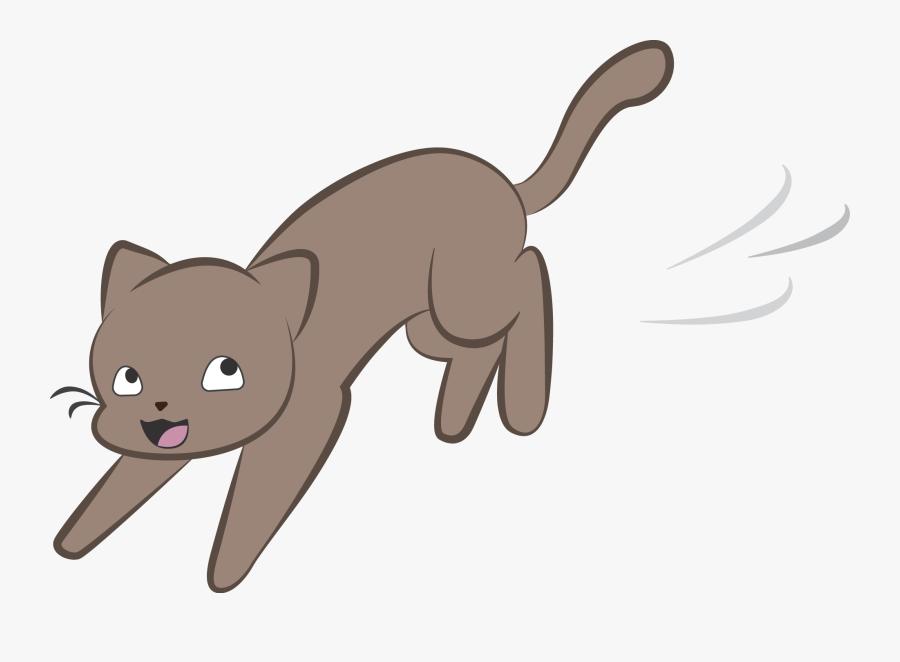 Cartoon Cat Cat Running Clipart, Transparent Clipart