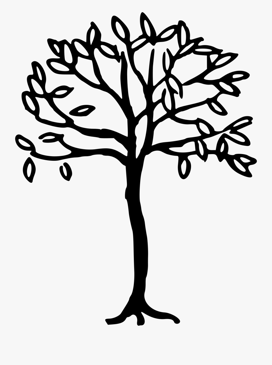 Simple Line Drawing Tree At Getdrawings - Simple Tree Line Drawing, Transparent Clipart
