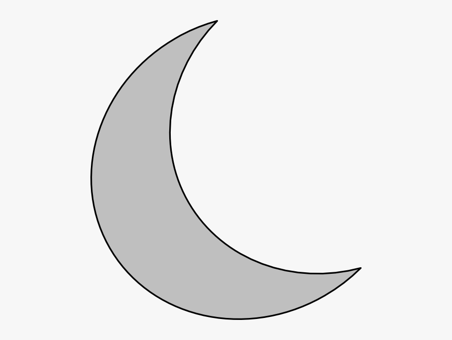 Crescent Moon Outline Tattoo Related Keywords - Crescent Clipart, Transparent Clipart