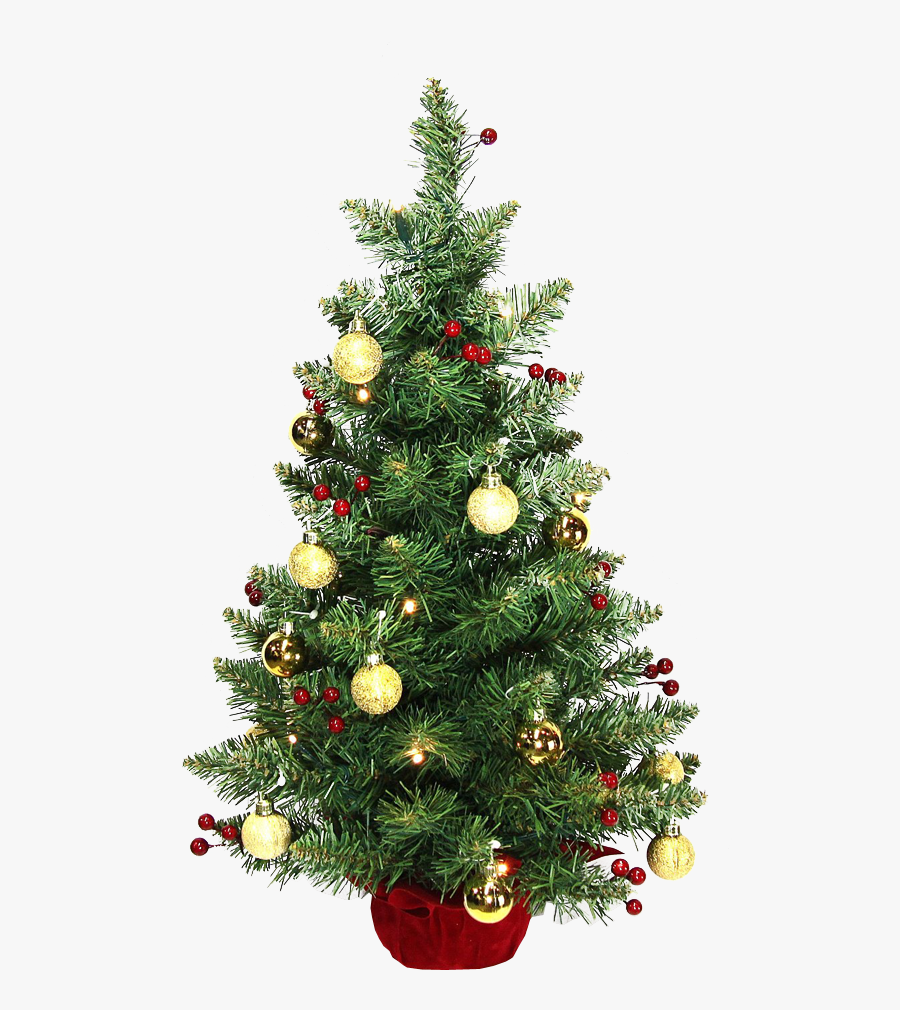 Transparent Christmas Tree Clipart - 2 Foot Christmas Trees Decorated, Transparent Clipart