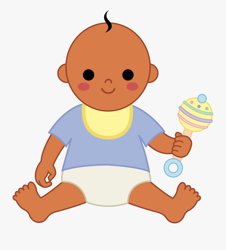 Black Baby Boy Clip Art - Baby With Bib Clipart, Transparent Clipart