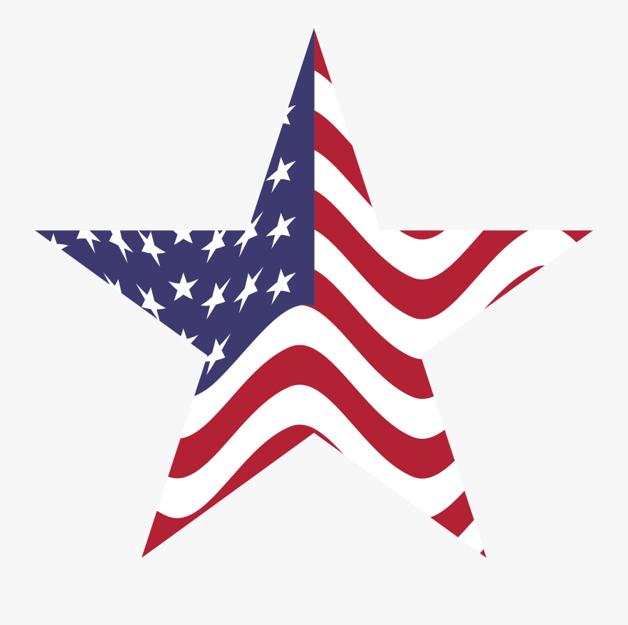 American Flag Star By @gdj, Us Flag Embedded Into A - American Flag Star Transparent Background, Transparent Clipart