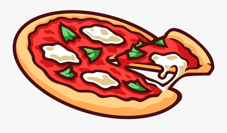 Pizza Vector Clipart - Pizza Cartoon Transparent Background, Transparent Clipart