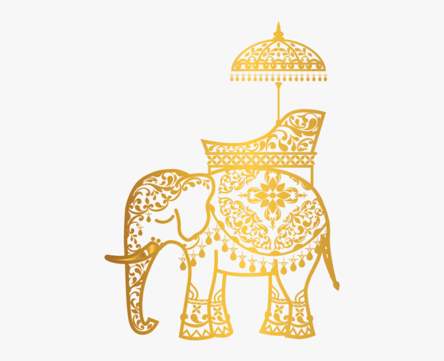 Free Png Download Gold Indian Elephant Clipart Png - Indian Elephant Transparent Background, Transparent Clipart