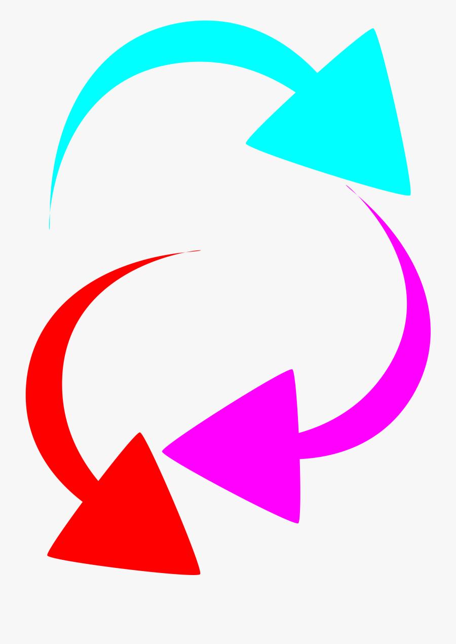 Curved Arrow Clipart Curved Color Arrows - Color Arrows, Transparent Clipart
