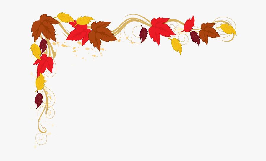 Transparent Thanksgiving Clipart - Fall Leaf Border Clip Art, Transparent Clipart