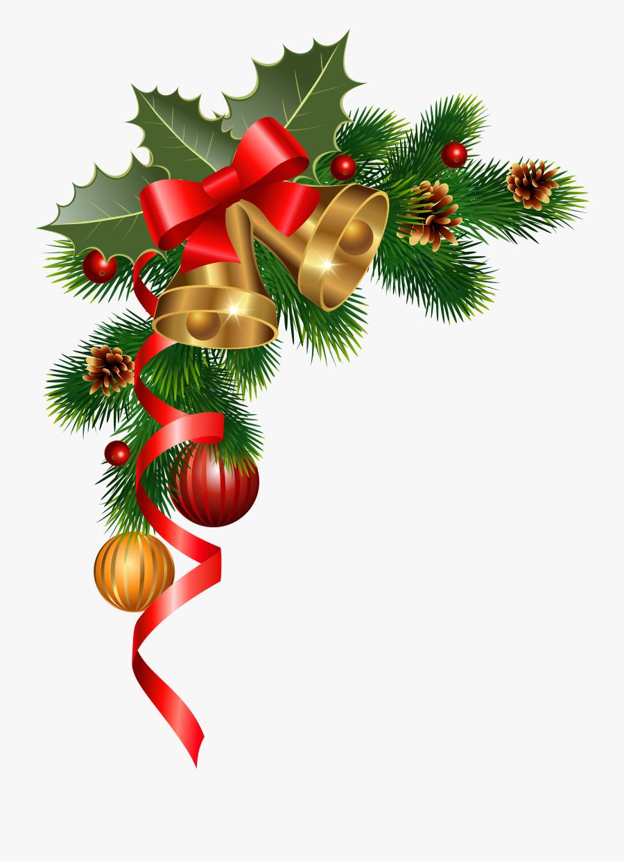 Christmas Border Corner Clipart - Christmas Corner Decorations Png, Transparent Clipart