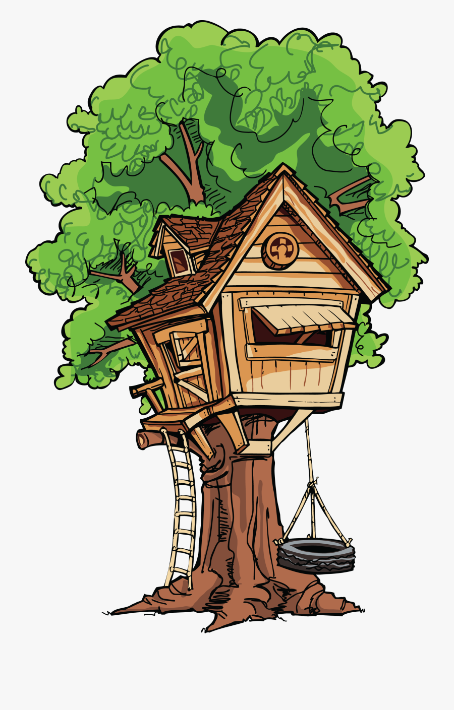 Clip Art House And Tree Clipart - Magic Tree House Tree House, Transparent Clipart