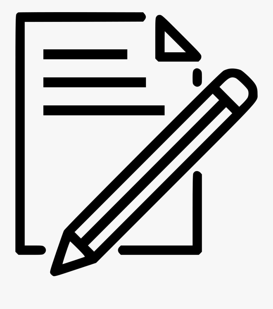 Clip Art Document Pen Graphics Illustrations - Paper And Pen Drawing, Transparent Clipart
