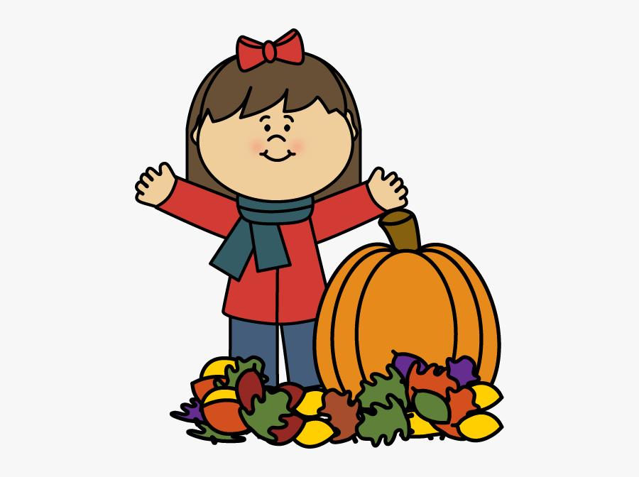 Autumn Girl Clip Art - Kids Autumn Clipart, Transparent Clipart