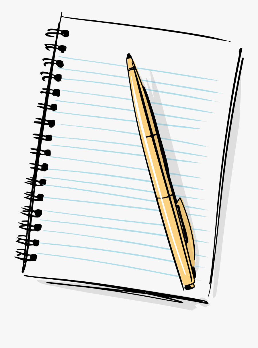 Hd Cartoon Pencil And Paper - Notebook And Pen Clipart, Transparent Clipart