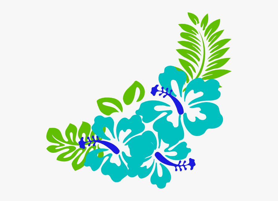 Transparent Flower Clip Art - Tropical Flower Border Clipart, Transparent Clipart