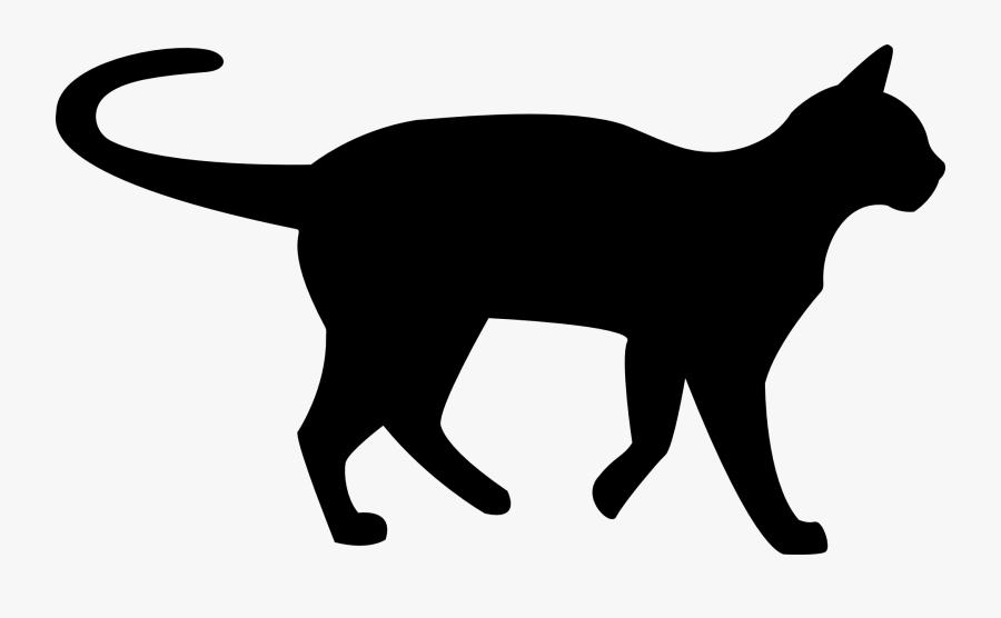 Transparent Black Cat Clipart - Cat Silhouette Transparent Background, Transparent Clipart