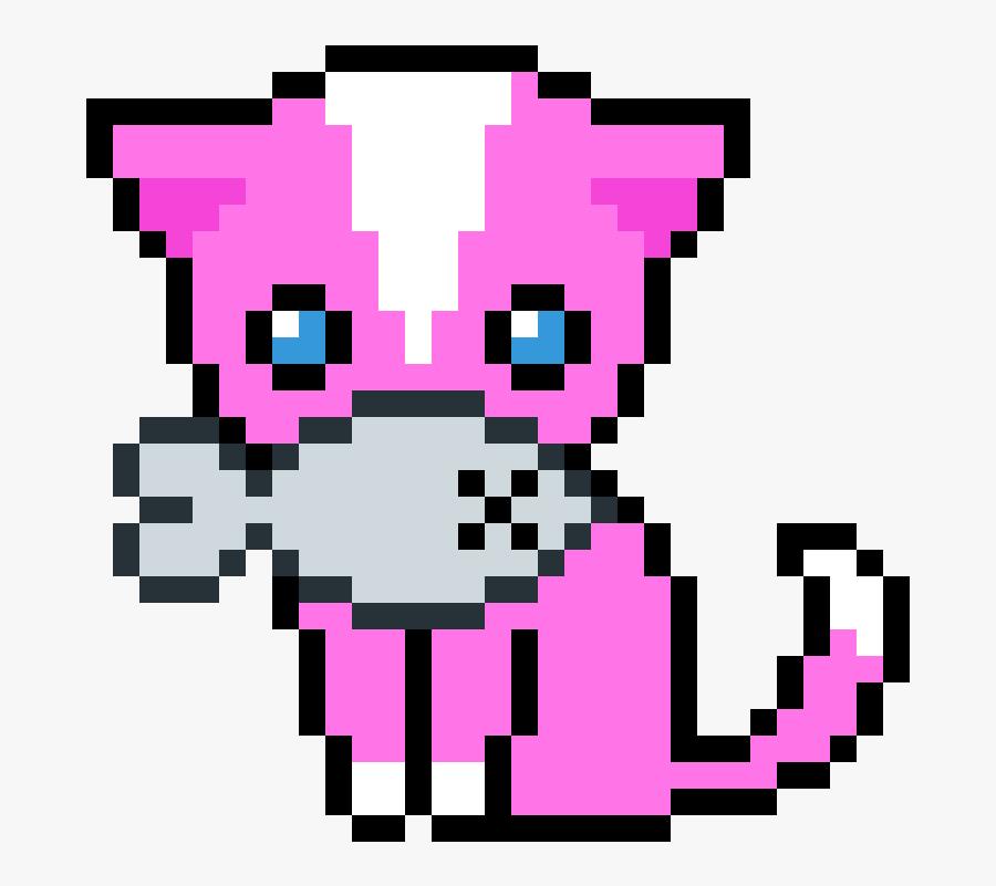 Pixel Art Cute Cat Clipart , Png Download - Cat Kawaii Pixel Art, Transparent Clipart