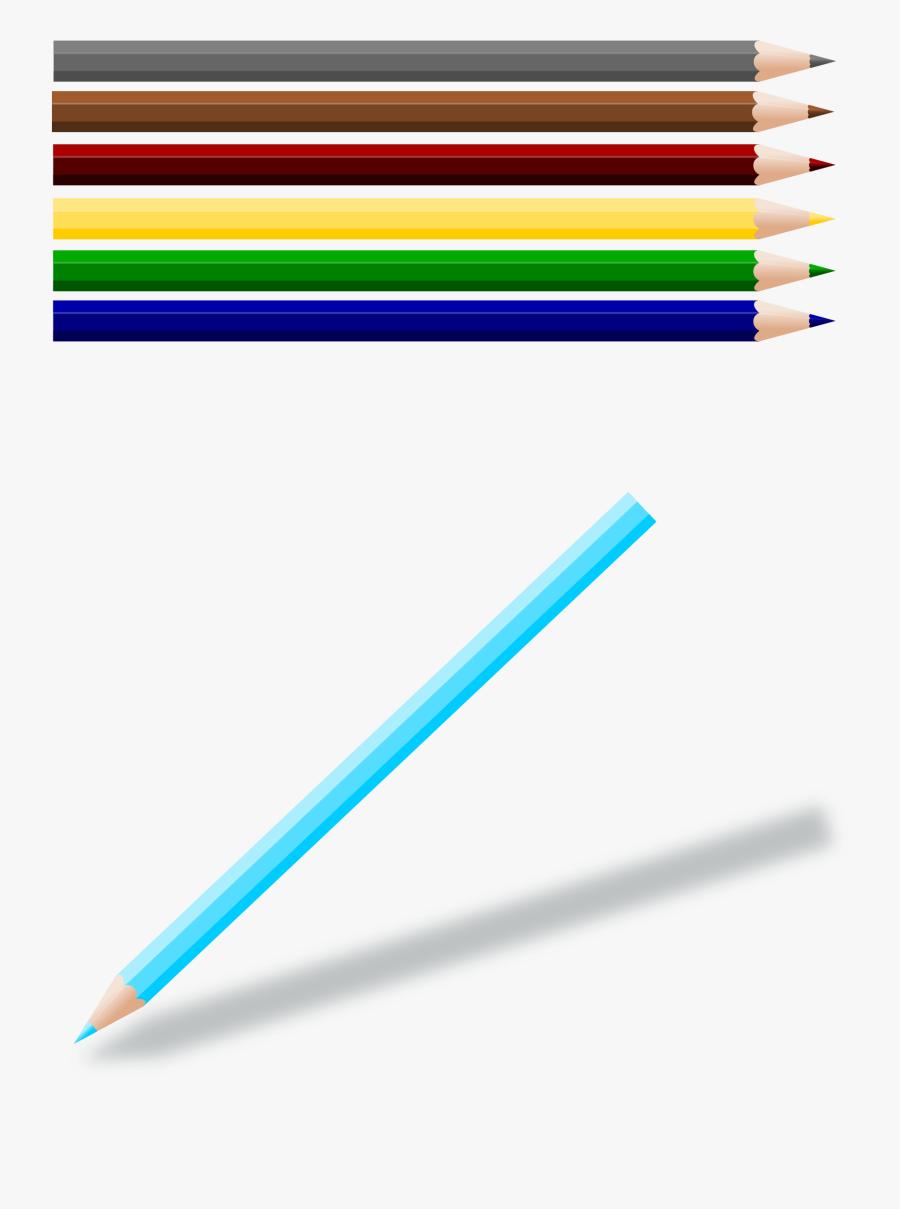 Transparent Pencil Clipart - Color Pencil Clip Art, Transparent Clipart