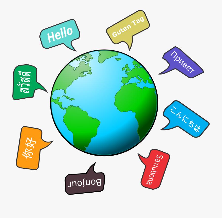 Transparent World Languages Clipart - Earth Clipart, Transparent Clipart