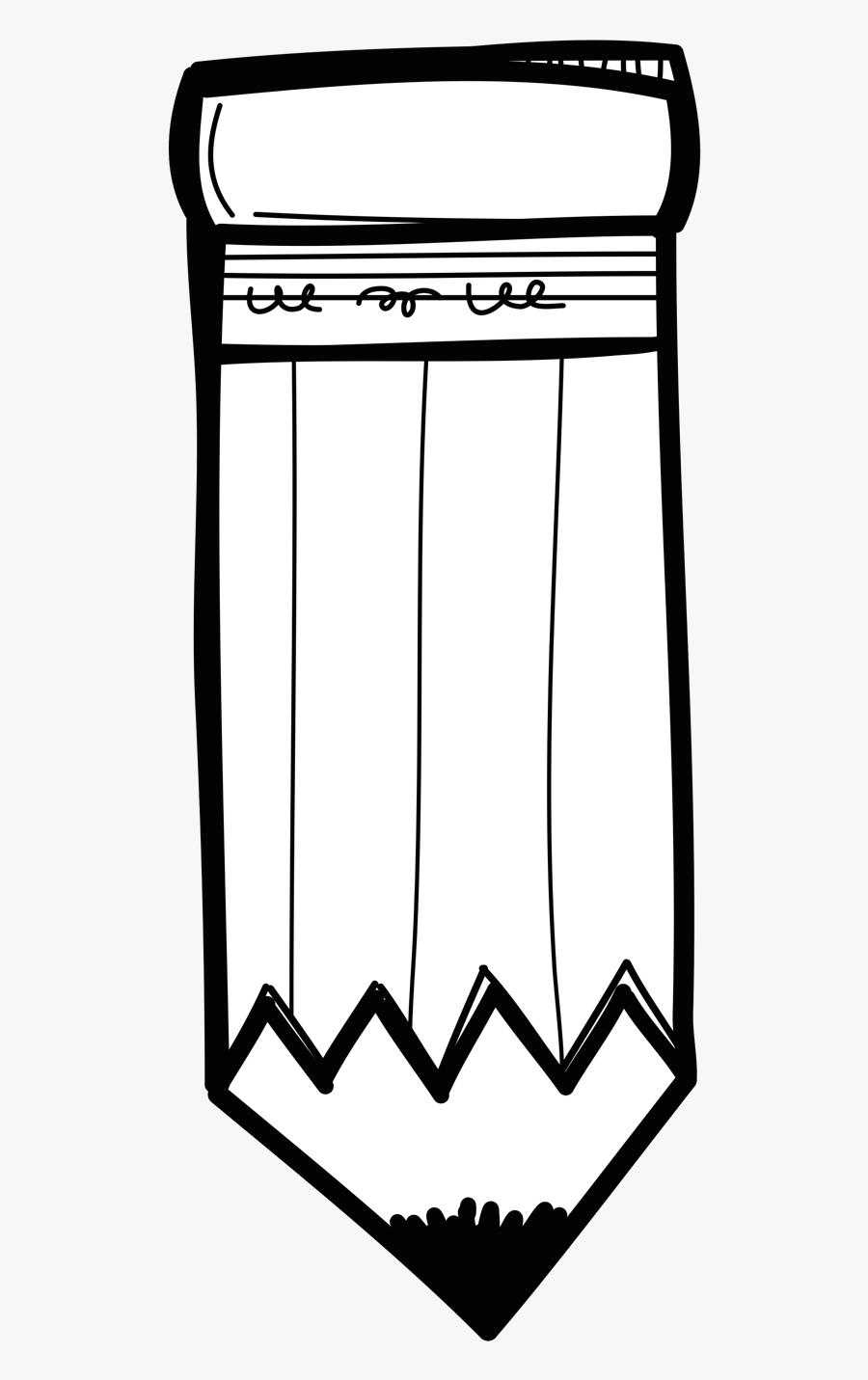 Pencil Clipart, School Clipart, School Supplies, Classroom - School Supply Clipart Black And White, Transparent Clipart