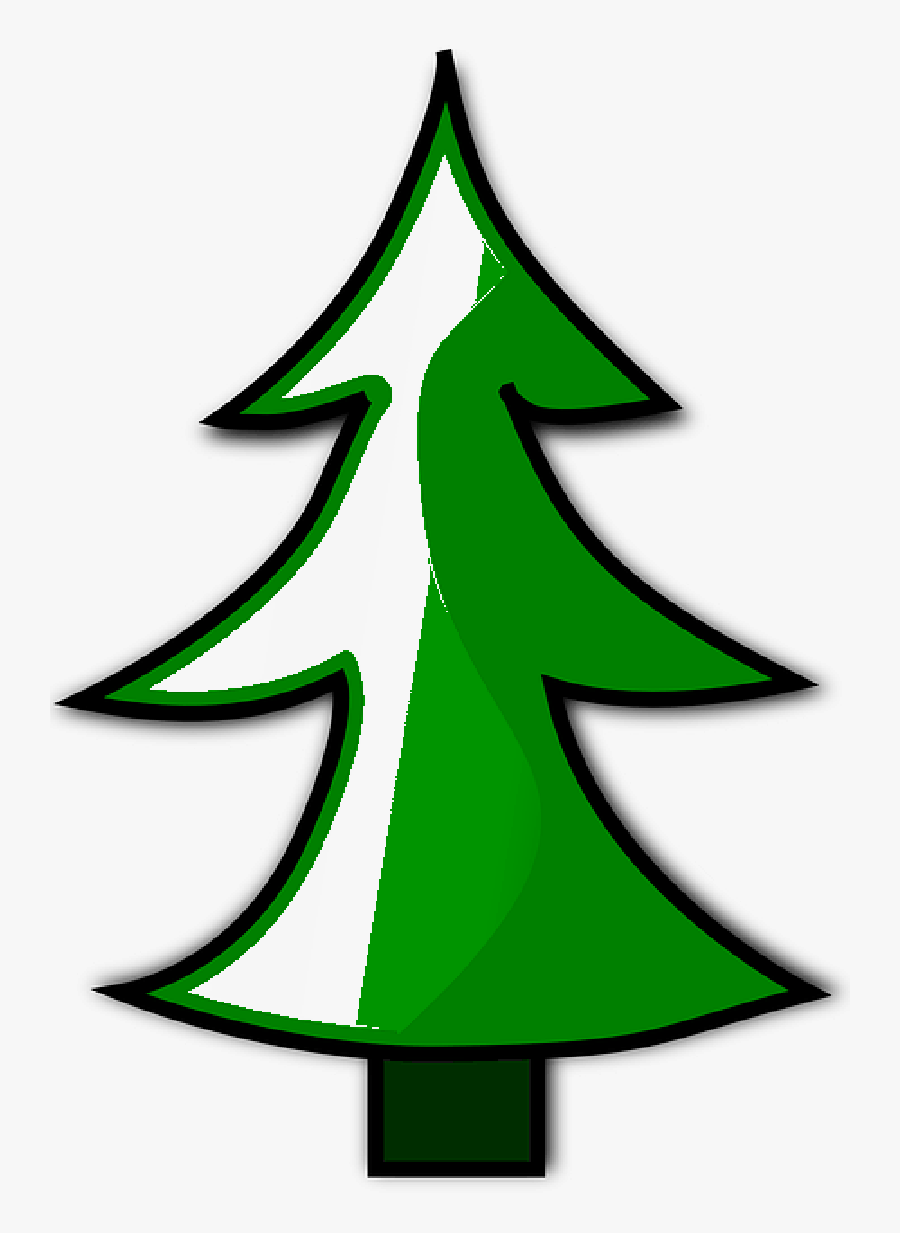 Christmas Tree Clipart Trio Watercolor - Black And White Simple Clipart Trees, Transparent Clipart