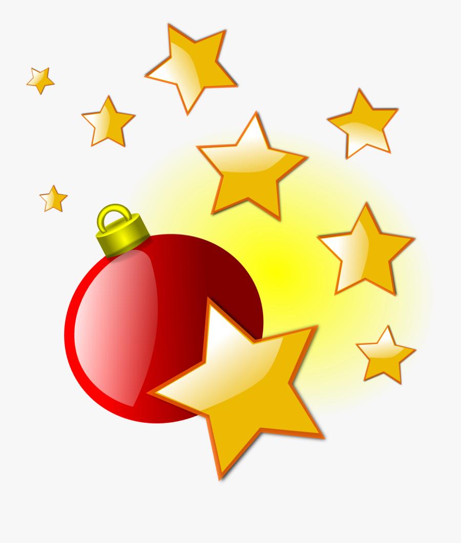 Christmas Tree Clipart Star - Clip Art Christmas Stars, Transparent Clipart