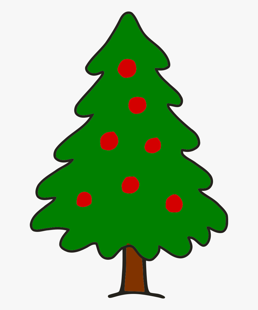 Christmas Tree Clipart Xmastree - Simple Christmas Tree Png, Transparent Clipart