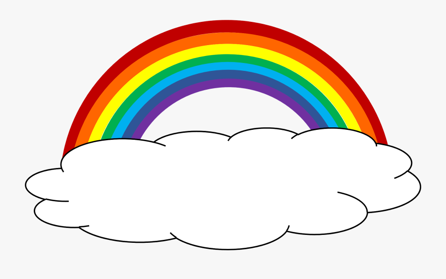 Clouds And Rainbow Clipart Clipartxtras - Rainbow And Clouds Clipart, Transparent Clipart