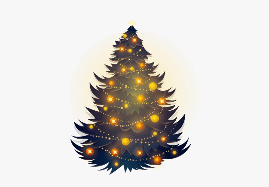 Christmas Tree Clipart Png Image Free Download Searchpng - Marco De Navidad Dorado, Transparent Clipart