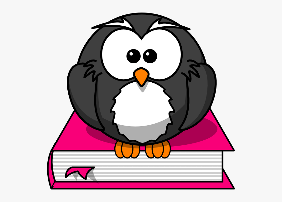 Owl Book Clip Art - Owl On The Book Clipart, Transparent Clipart