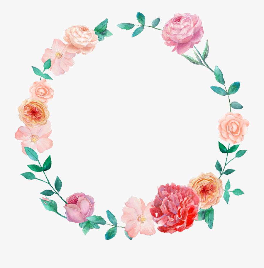 Transparent Mexican Flowers Clipart - Watercolor Wreath Flower Png, Transparent Clipart