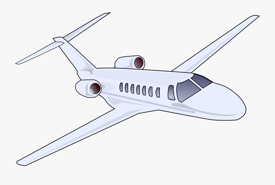 Jet Clipart Corporate Jet - Private Airplane Clipart, Transparent Clipart