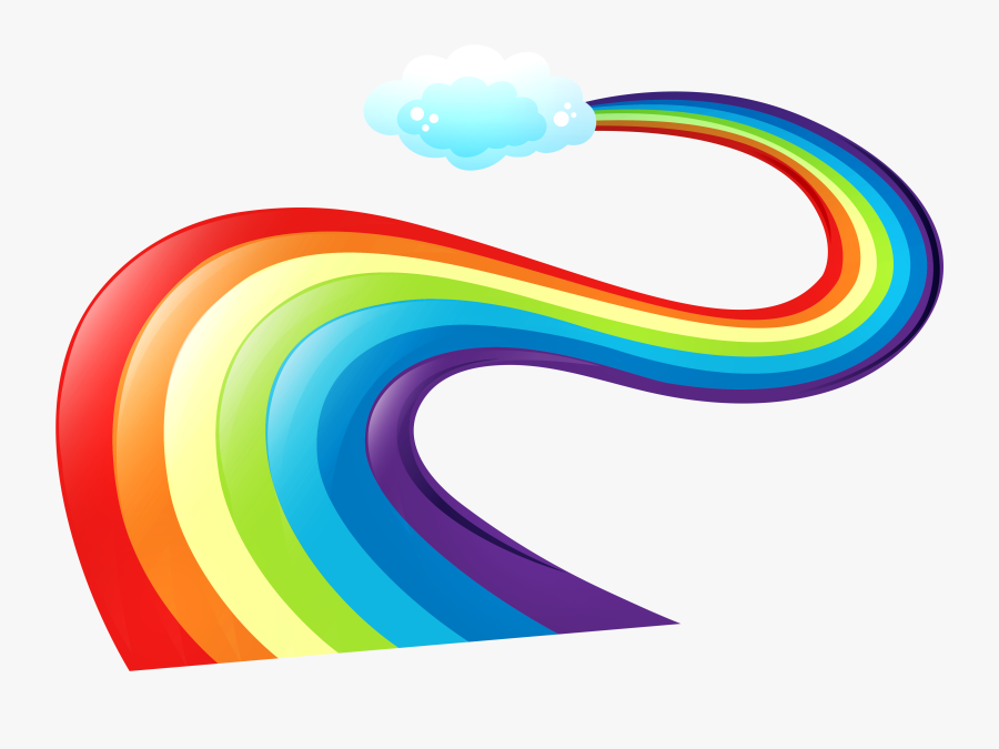 Rainbow With Every Color, Transparent Clipart