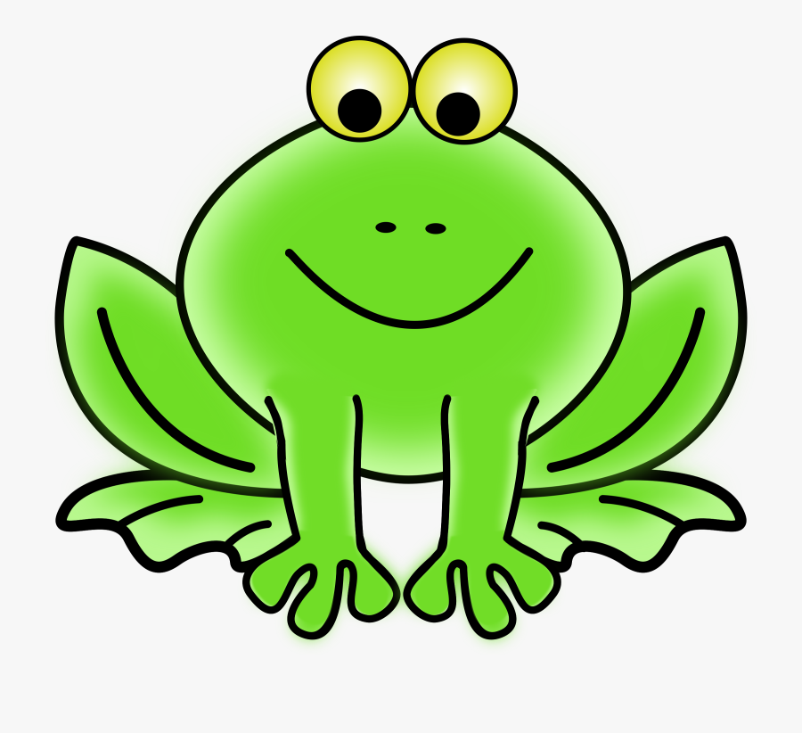 Frog Clip Art Cartoon - Animated Picture Of A Frog, Transparent Clipart