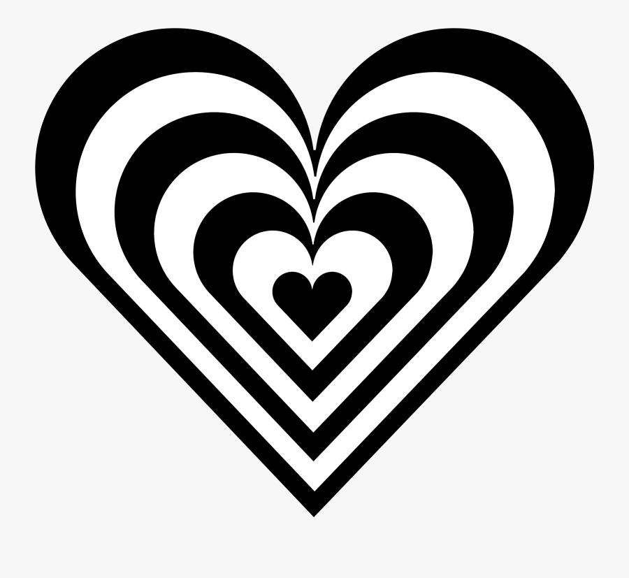 Heart Black And White Clipart Heart Black And White - Heart Clipart Black And White, Transparent Clipart