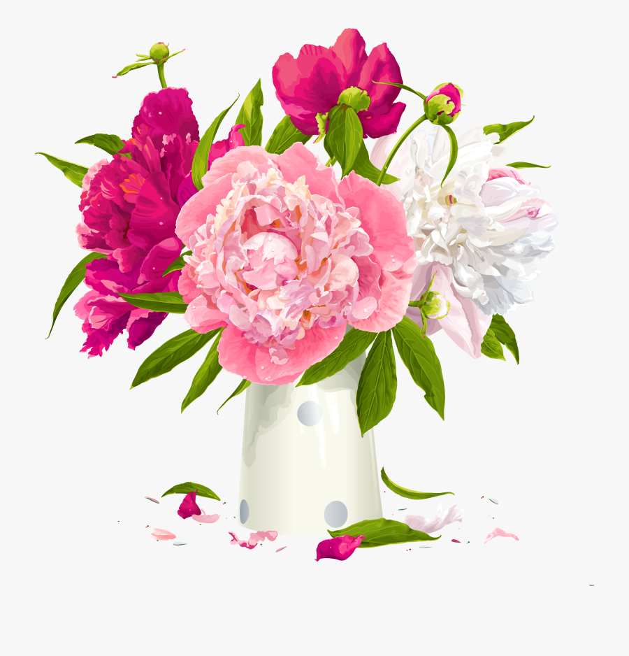 Flower Vases With Flowers Clipart Group - Flowers In Vase Clipart, Transparent Clipart