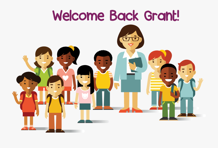 Grant Elementary School Pta Multicultural Kids Clipart - Teacher And Student Background, Transparent Clipart