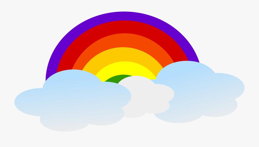 Rainbow Clip Art Rainbow Images - Rainbow Cartoon Vector Png, Transparent Clipart