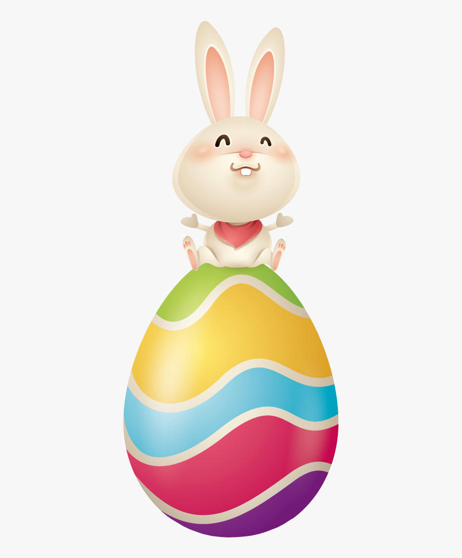 Tubes P - Sitting Easter Bunny Vector, Transparent Clipart