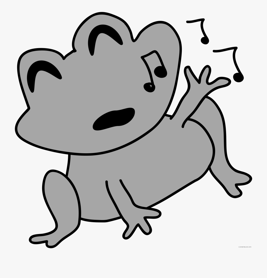 Png Black And White Library Black And White Frog Clipart - Frog Clipart, Transparent Clipart